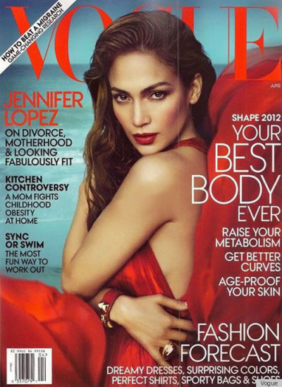 Jennifer Lopez in Vogue April issue