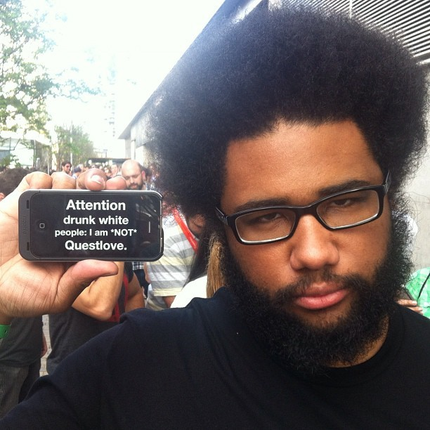 menycandtv:   Attention drunk people @penguin is not Questlove andrewhyde, instagr.am  Lol