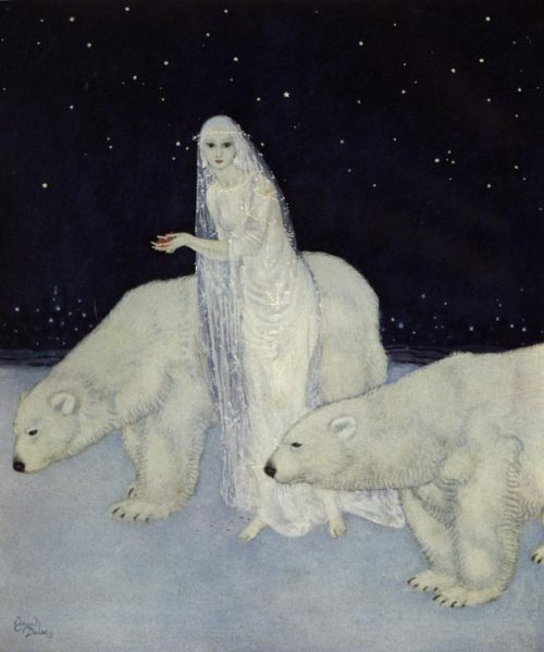 suicideblonde:  Dreamer of Dreams (1915) by Edmund Dulac Everything abut her was white, glistening and shining