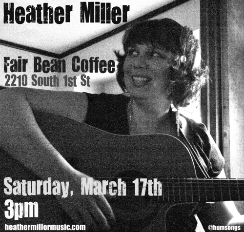 Real excited to take part in this awesome showcase week at Fair Bean Coffee, hosted by Amy Zamarripa! I'm playing a 45 minute set starting at 3pm on Saturday the 17th, but click the poster to go to the Facebook event and see ALL the people who are playing Thurs-Sun!