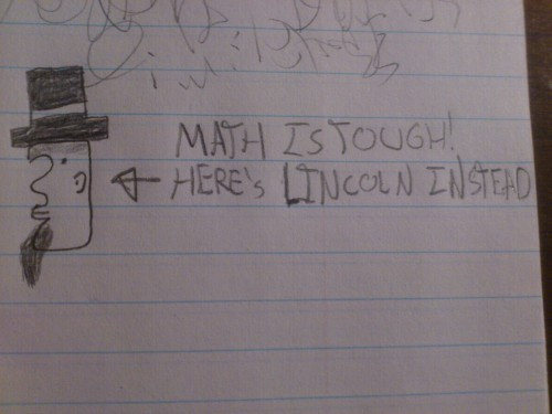 I was looking at my old math notes when I found this odd doodle.