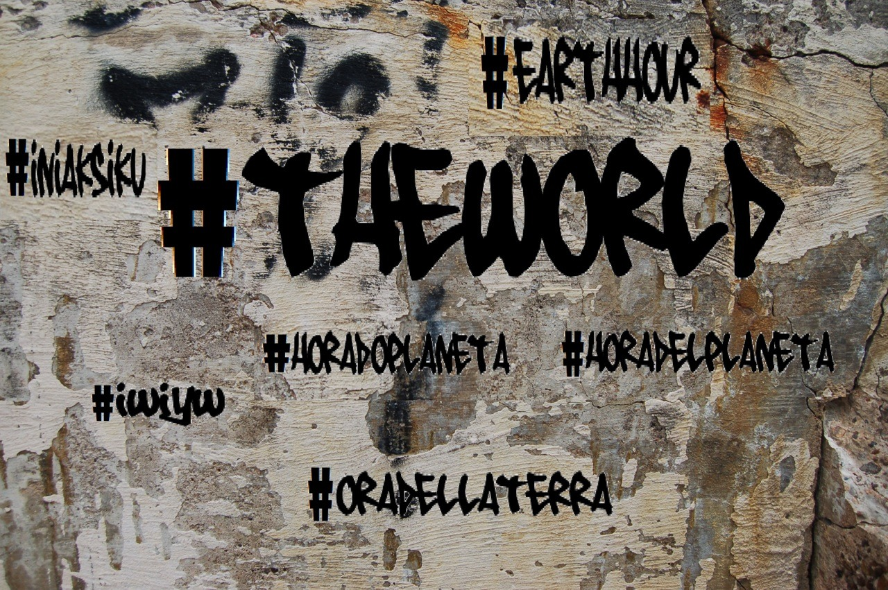 Hash-TAG the world's WALLS #EarthHour #HoraDelPlaneta #HoraDoPlaneta #IWIYW #OraDellaTerra #IniAksiku are the main ways to follow the global conversation around our campaign on Twitter