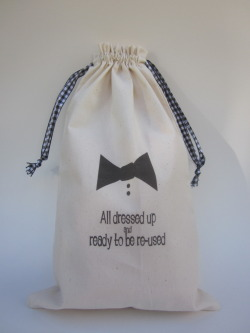 """Dressed to the Nines"" gift bag"