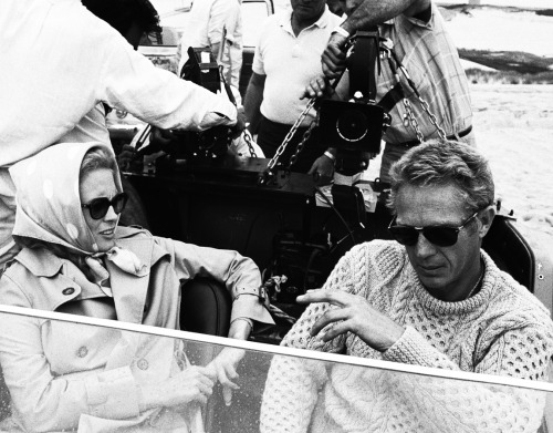 terrencestevenmcqueen:  Steve McQueen and Faye Dunaway on the set of The Thomas Crown Affair, 1968.