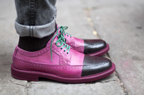 maxtonmen:  pink brogues with green laces