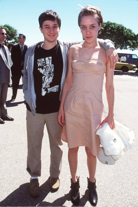 Harmony Korine (in a Skin Yard shirt!) and Chloë Sevigny, back in the day.