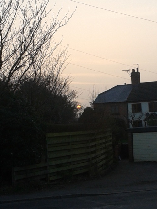 Sun setting over village life, Cropwell Bishop  Sarahb