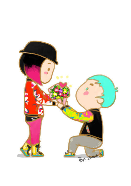 HAPPY WHITE DAY ♥ GD&TOP  cr:weibo@郝完美是镯子来着呀