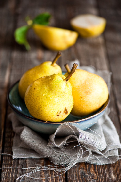 Beauty Pears via Cooking for Pleasure Journal.