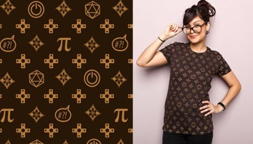 "sogeekchic:  We're waiting for this ""Geek Chic"" design (Seriously, that's what it's called. Could it be any more perfect for this blog?) by Megan Lara to be available on purses, but in the meantime, check out the T-shirt version at Threadless! (via FashionablyGeek)"