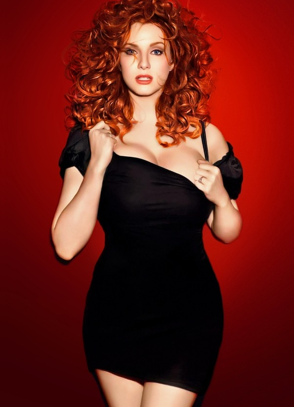 Christina Hendricks by James White, Esquire photo shoot 2010