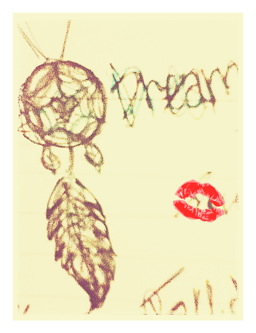 Dream Catcher, self drawn. The lipstain is not!
