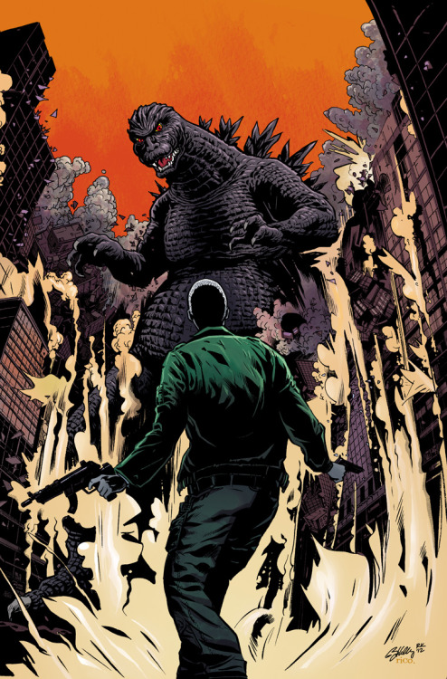 I got the opportunity to color this Godzilla cover by Ryan Kelly a few weeks ago. I LOVE Godzilla! Ryan's pretty cool too. Pick up Ryan's Saucer Country #1 from Vertigo, out today! -rico.