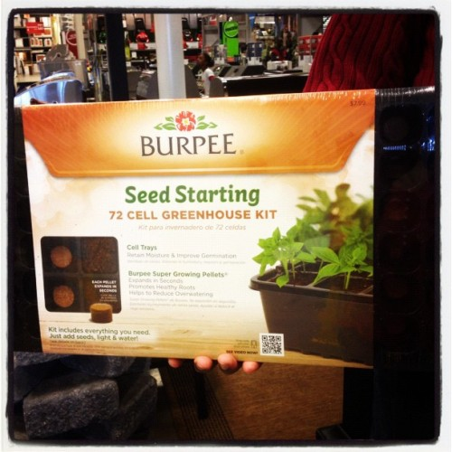 #Deal of the day Burpee 72 Seed Starting kit under $10. I was stoked when I found this #gardening kit near the seeds. #iphoneography  (Taken with Instagram at Lowe's Home Improvement)