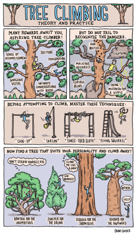 incidentalcomics:  Tree Climbing