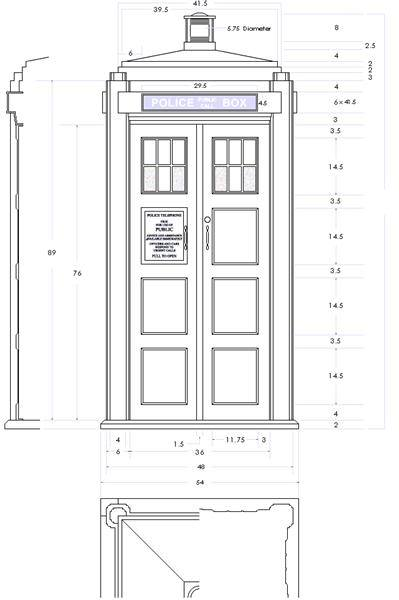 Who wants to help me build myown TARDIS? Looks like we got all the measurements right here!