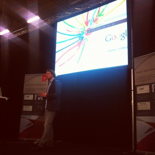 Erik Skuncke, Senior Account Manager Google berättar om Google+ #InExpo12  (Taken with Instagram at Easy Fairs @kistamässan)