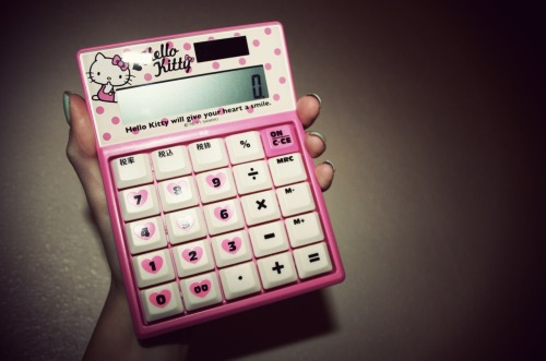 Everyone loves a bit of Hello Kitty ♥ My Japanese calculator.