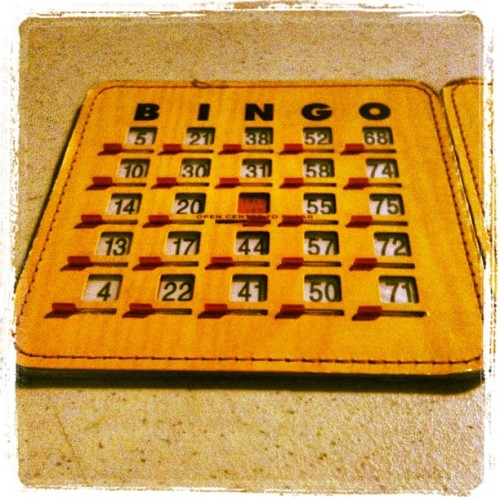 Bored…so playing some Bingo.  (Taken with Instagram at Air Force Base Manas, Kyrgyzstan)
