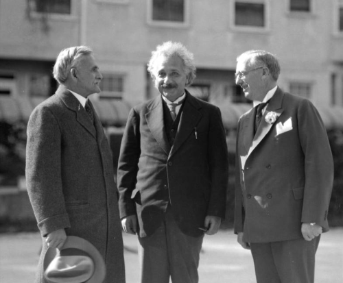 "In honor of Albert Einstein's birthday today, a photo of him at Caltech. This photo comes from Pasadena Digital History Collaboration (For more photos, type in ""Einstein"" in their search field)."