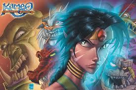 Wow, were going back a long ways here with this review, Kameo: Elements of Power.  It was one of the launch titles for the X-Box 360.  Although I just NOW got around to playing it, and able to give my opinion on it.  And yes as a warning everything here is opinion based!  You think I am wrong, go do your own review!  Anyway, now that that is over with, on with a history lesson. Kameo was originally going to be for the Nintendo GameCube, but as we all know, Rare, the developers who made Kameo, and also best known for the Banjo-Kazooie Series, Perfect Dark, and Golden Eye, was bought out by Microsoft.  This made many gamers feel it might not even see the light of day, as the Beta for the GameCube game looked intriguing. The Beta for GameCube looks very different than what we ended up getting actually.  All the Elemental Warriors in the Beta were never really seen again, and it looked as if you could summon the Warriors to battle while you transform into other Elemental Warriors.  The level shown was a desert like area, that never made it into the final game. As development continued on the X-Box, we saw more trailers where the game seem to continue in the path as before, but we see more familiar locations and Elemental  Warriors, and dancing tigers we never see again, but then, nothing.  Again the game seemed like it might have been thrown to the wind by Rare, and it seemed like Rare was just not looking at their old IP's.  Thankfully we later found out it was being moved to the X-Box 360 as a launch title.  So with all the time and changes, how is Kameo: Elements of Power?  Let's find out! The game starts off with a bunch of random confusing images coming at the screen.  A fairy using Force Lighting on a few people, people yelling, trolls laughing and what not, and then you're at a castle siege as a probably under aged, and under dressed fairy named Kameo.  She is here to stop the evil Troll King Thorn, and here traitorous sister Kalus, who freed she from his entrapment in stone.   Kalus is upset with her family for giving her younger sister Kameo the Elemental Warriors, the ability to transform into different creatures basically, as she felt SHE was supposed to get this power of becoming a Pokémon Trainer like being.  So the natural reaction is to kidnap most of your family and try to kill them and your sister.  Man I'm happy I don't have a sister right now. So the first level is a tutorial level, BUT unlike a lot of tutorial levels, it's not that bad to bear.  In fact it's basically a real level and they don't truly baby you too much, which I like!  So as you go through, you only have 3 Elemental Warriors, so it's also not overwhelming.   You get to the top of the castle as Kalus is attacking your family members.  You try to sneak up on her, but the evil Troll King Thorn is a giant and you were hiding behind his leg.  He swats at you, and you lose the Elemental Warriors and you black out.  Obviously it's the end of the game, being as you're in the villain's fortress, and unconscious.   NOPE!  (I really get annoyed at these types of things).  Kameo was taken back to her home, and at the Mystic's house (weird lizard type creature) who says she must find the Shadow Trolls who have the Elemental Warriors Spirits so Kameo can transform back into them and save her family.  A talking book, called the Watnot Book accompanies Kameo as the first Shadow Troll is in the fairy kingdom right there for them, how is that for convenience!  You then have to follow the troll to the Shadow Realm! Alright, it's Time To Duel!  I'm pulling out my Toon deck for this one.  Wait this isn't the Shadow Realm we know, but a small arena to battle the Shadow Troll and win the Elemental Warriors!  After defeating them, the Mystic and Watnot Book tell you to travel to the ground below, and save your Uncle and retrieve more Elemental Warriors!  So off to the forest area. After finding a few more warriors and defeating the Forest Temple, your Uncle reveals Kalus was trying to steal the Elemental Warrior he had in him, and WAIT!!!!!!!!  He had one in him.  And it's a freaking fire breathing dragon in the FOREST AREA!  Logically you burn the evil tree to the ground!  Why did you not transform, or not transform earlier when you were being attacked!  Or do you just hold them for NO REASON AT ALL!  Ok well moving on….. Your Uncle gives some back story of how your father, Solon, was the one to originally trap Thorn in stone, after freeing him, and Thorn got power hungry.  So Solon then somehow dies?!? Somehow.  Because the plot said so, what other reason do we need? So you continue your journey to the Water Temple (And I'm seeing a Zelda pattern here), and get more Warriors and save you oversized Aunt, who reminds me a little bit of Rosie O'Donnell.  So she explains why your mom choose Kameo over Kalus for the Elemental Warriors and you get a hint that you might be adopted, and surprised you are.  No wonder Kalus is mad, I would be too.  They choose the adoptive daughter to get these near God like Powers!   We also find out Thorn and Kalus was trying to remove the Elemental Warriors the family members have, BUT WON'T USE!   Ok, why not swat THEM like you did Kameo.  Thorn removed 3 Warriors that way from here.  Yeah they went to the Shadow Trolls, who why we are at it, why not GO BACK TO THORN WITH THE WARRIOR SPRITS!  This could have been over with so many times over now, granted Kameo and you in turn die in all of them, BUT STILL! Alright I'm getting off that horrible horrible plot hole.   You now travel to the snow planes and into the Ice Temple to get the Iron Boots and sorry wrong game.  Anyways you grab a few more Warriors and enter the temple.  Run around, puzzles, giant walrus', and boss battle, and you help your grandfather I think?  Sure lets go with that.  He 'basically' confirms that you are adoptive, without directly telling you, and tells you to find the remaining Elemental Warrior.   You go off and find Thermite (one of my favorites) and the Mystic request you come back for more training or something, now that she has all the Elemental Warriors.  Well here family, contacting her through Ghost Jedi communication (I guess it's this worlds form of Cell Phones) says she is ready to topple Thorn and Kalus, and save her mother.  Kameo agrees while the Mystic grumbles. Off to Thorn's castle as you make your way to that level, defeat a giant robot, and then onto Thorn's Airship.  From there, you see an armada of airships flying towards the Fairy's floating Castle.  Now is the final boss battle!  Kameo vs. Thorn and Kalus.  We'll let me rephrase that, you only really battle one at a time.  But you face Thorn First, and randomly Kalus summons random trolls to attack you.  Honestly using either 40 Below or Thermite, the battle is simple.  After you topple Thorn, you then finish off Kalus!   Kalus gets a vision of the Mystic who not only caused Solon's death, but tricked Kalus into freeing Thorn, and manipulated everything!  Kalus, then really mad, flies towards Thorn to get revenge, and he punches her, throwing her back next to Kameo.  The sisters magically become friends again, without Kalus telling Kameo of her visions and they combine their powers to attack Thorn.  Kalus suddenly kisses Thorn's nose, and they both begin to turn to stone! As the now stone Thorn/Kalus falls off the destroyed ship, Kameo falls, and lands on top of a blimp her allies are flying, and just so happens her mother is safe as well!  They fly off into the sunset.  We then see the Stoned Thorn/Kalus sink to the bottom of the sea, and the evil Mystic laughing. So that is Kameo: Elements of Power!   So what did I think? The plot is not too bad, it does give you an epic feel as you are going around to the temples, saving family members, and gaining Elemental Warriors.  There are still a ton of plot holes though, and I think they came about through development as it had a long time it was being made, and went through many changes, but I can't ignore them.  I hate plot holes like that, and blatant ones at that.  It's the same reason I CANNOT watch Dragonball GT again.  It was far too painful. Beyond Kameo, you don't spend much time with any characters, and she was pretty bland.  The Elemental Warriors had little quirks, but nothing significant.  Thorn is generic, and Kalus is really the only one with any interest, although it's low. The Gameplay was pretty good, and a lot of variety, with Kameo, and then 10 different Elemental Warriors to play as, all unique and different.  You can also upgrade your Warriors via Elemental Fruit, and not only do they become more powerful, but sometimes their appearance changes a bit. The length of the game was disappointing, beating the main story in about 4-6 hours (I messed around a lot in the game).  I was expecting a much more massive game like Banjo-Tooie and even Conker's Bad Fur Day.  Although it had a huge feel to it, it wasn't utilized how it probably should of.  You can go back to get a 'A' rank in points on the levels, but from it seems on http://www.trueachievements.com, that the ratio of people who can do that is pretty low, compared to the amount of players who own the game. I have to talk about one more thing, the ending.  Obviously it lets itself be open to a sequel, with the Mystic still roaming the world to be evil and do evil things, and it seems far too easy to awaken Thorn from his stone prison.  So with this game coming out in 2005, shouldn't there have been a sequel?  Well the game sold bad, really bad.  Not even half a million copies sold, which was a huge blow to Rare, hoping to help establish themselves once again, with throwing this and Perfect Dark Zero out as 360 Launch titles, and where Perfect Dark Zero at least broke half a million (not by much though), this did not.   Let's face it, this game was meant for GameCube, and probably would of flourished and sold much more on the Nintendo's under rated console (IT IS! DEAL WITH IT).  Most people who loved Rare in the Nintendo 64 Era think the same.  Should Nintendo of fought harder for Rare?  That's for another day. The score for Kameo: Elements of Power is 7.3, a C.  The game was great, and had potential, but annoying plot points, and a very short game from a company who we knew could make it on a much larger scale, and had the time to make it that way.   I feel there was so much more they wanted to do, but with the development time, I have no idea why they couldn't achieve it.