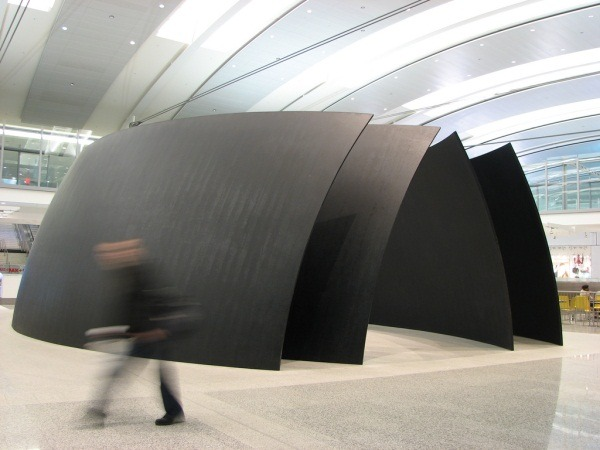 manpodcast:  Richard Serra, Tilted Spheres, 2002-04. Installed at Toronto's Pearson International Airport. Photo via Flickr user Ian Muttoo. This week's Modern Art Notes Podcast featuresRichard Serra, our greatest living sculptor. A retrospective of Serra's drawings has just opened at its originating institution, The Menil Collection in Houston. It will be on view through June 10. To download or subscribe to The Modern Art Notes Podcast via iTunes, click here. To download the program directly, click here (or click on the image). To subscribe to The MAN Podcast's RSS feed, click here. You can stream the program and see more images of artworks discussed on the podcast here.
