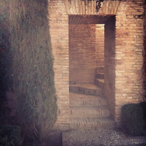 Stairway at the Alhambra, the seat of the Caliphate. (Taken with Instagram at Generalife Y Alhambra)
