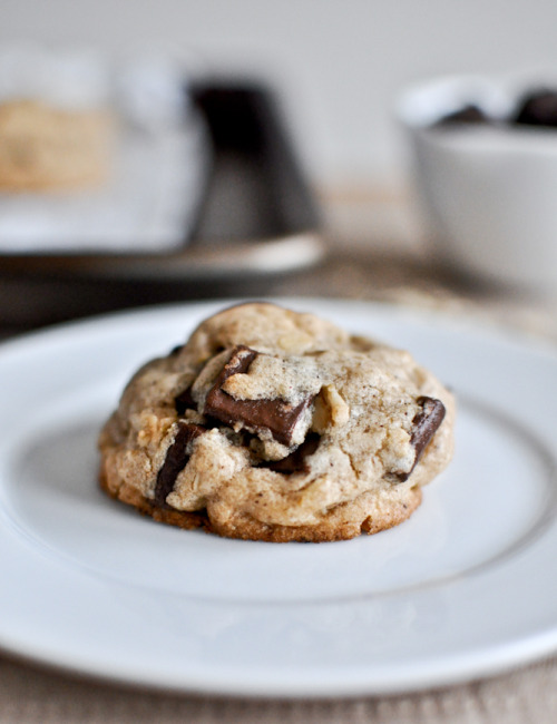 Brown Butter Oatmeal Chunk Cookies  |  How Sweet It Is