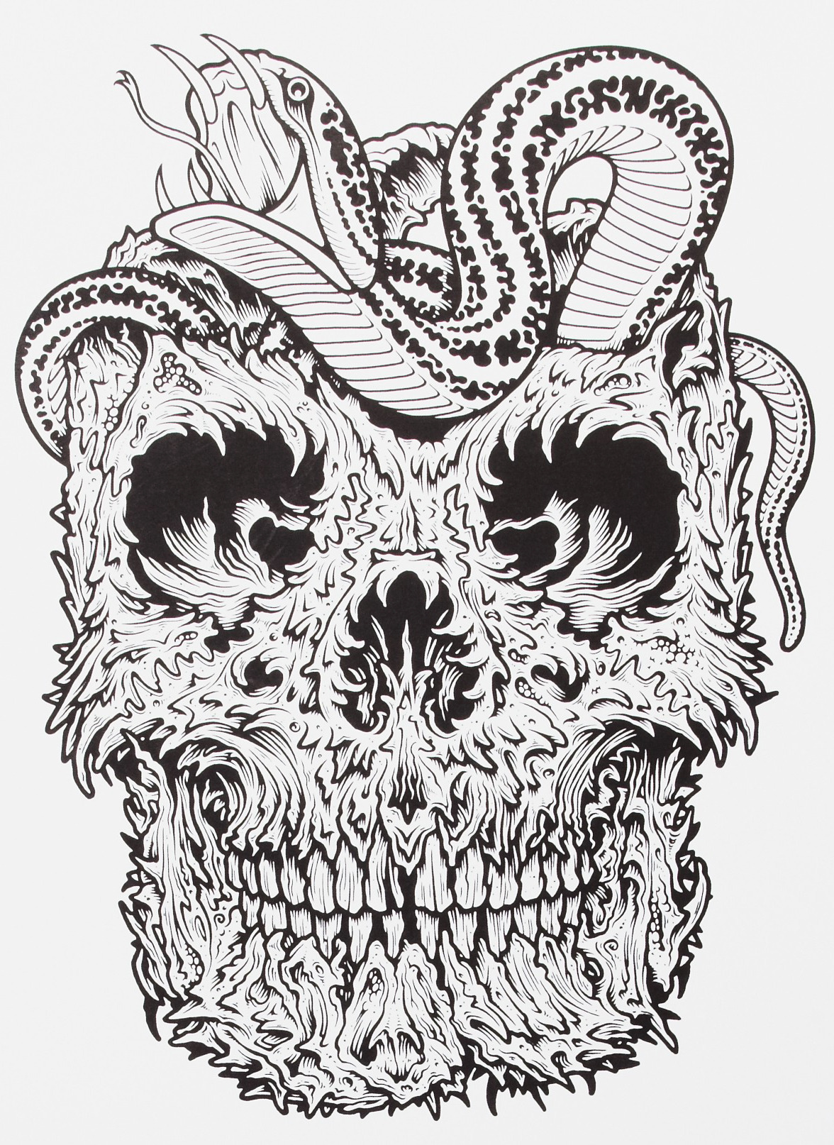 Here's a new sick piece by artist Mike Giant !  My mind is melting …  supersonicelectronic:  Mike Giant.