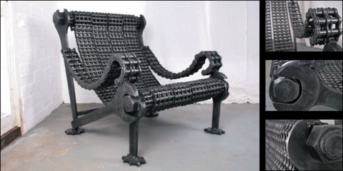 Industrial #upcycled chair by STIG.