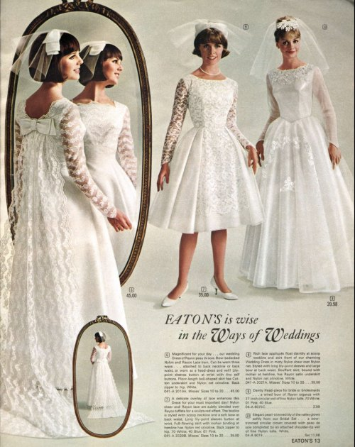 ~ Eaton's of Canada, Spring and Summer 1965via Library and Archives Canada(click to enlarge)