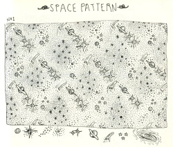handmade space pattern