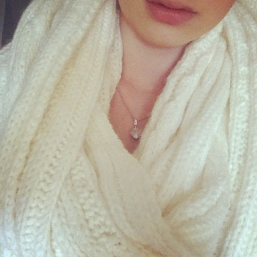 #lips #half #face #necklace #heart #crystal #scarf #fashion #style #swedish #russian #girl #ig #like #follow #photography  (Taken with instagram)