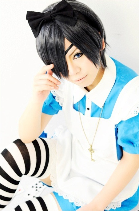 Here's a great Ciel in Wonderland cosplay from Japan. I'm always amazed to see how cosplayers the world over bring a character to life. To watch the inspiration for this Cosplay outfit, check out Black Butler Season Two.