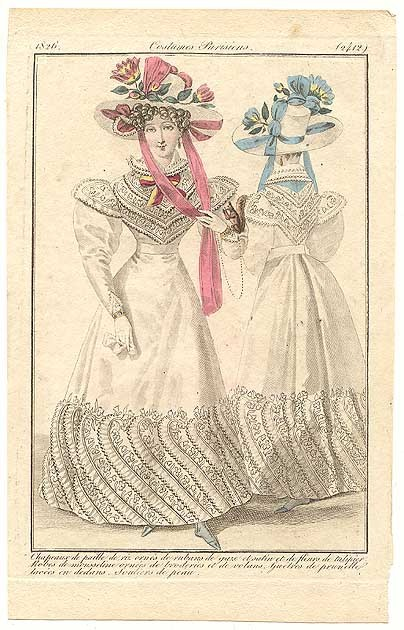Journal des Dames et des Modes, 1826.  Uhf.  That's a lot of hem work!