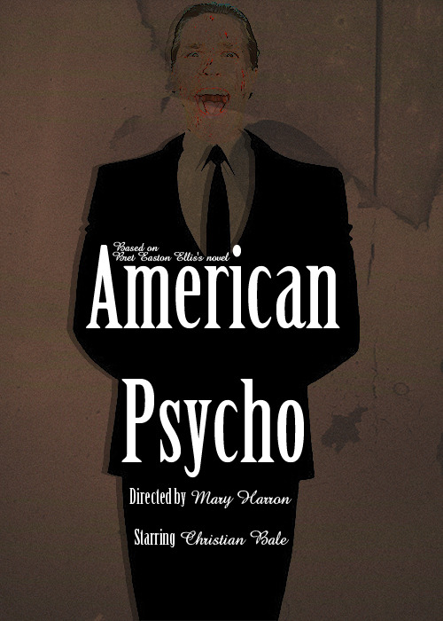 fuckyeahmovieposters:  American Psycho by Koneko  I bought this novel the other week, I think I'm going to enjoy it.