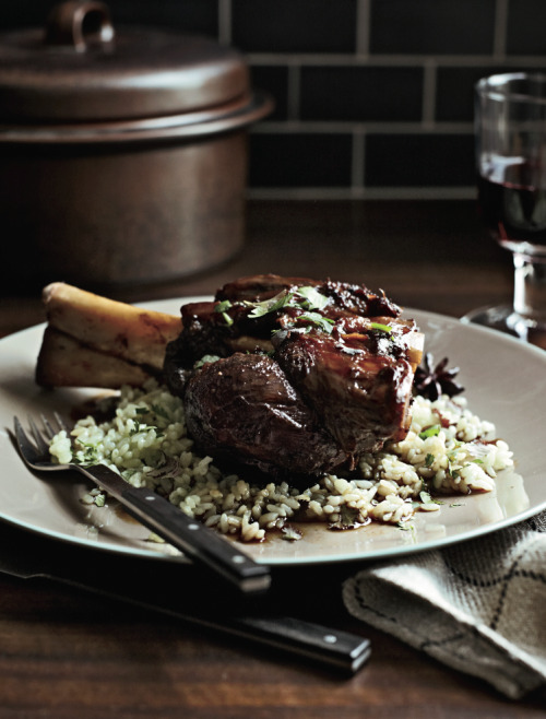 foodandwinephotos:  © Con Poulos Braised Wild Boar Shanks with Sweet Soy and Star Anise Recipe Contributed by Johnny Monis Click here for full recipe