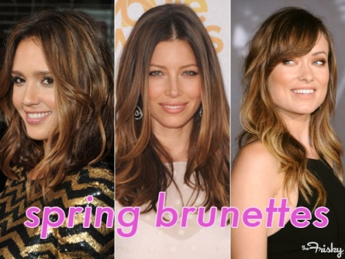 Hair Dos: Spring Brunette Inspiration From The Stars - The Frisky
