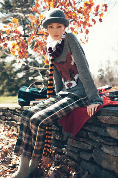 Peter Jensen wool sweater, about $360.  Teenvogue style