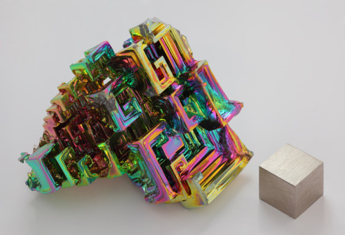 Rainbow bismuth cube/fractal crystal. (Feel free to post the original source if you happen to know it.)