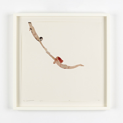 David Austen, Flying Man and Woman (Trapeze), 2011