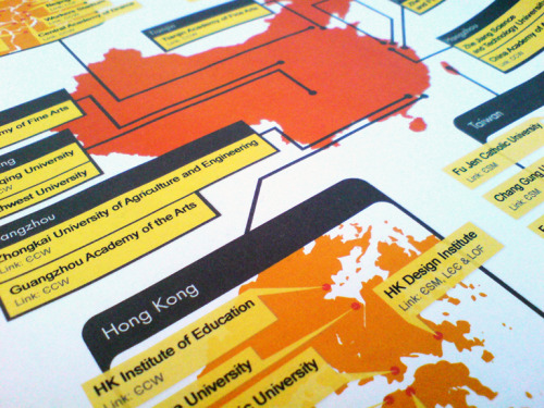 International Uni Links in China Map/Diagram: A shot from a small project I did last week for a London University and their international department.