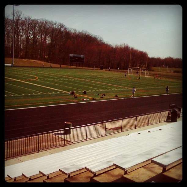 Me vs The Track - Log off/Shut down & get moving :) luv being outside! #track #workout #bleachers #training #getmoving #outdoor  (Taken with instagram)
