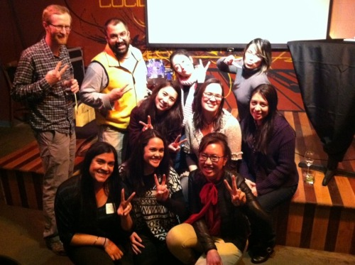 #UNITY12 Seattle mixer attendees say U for UNITY.