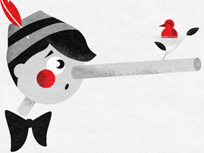 (via Dribbble - Liar, liar.. by Maria Taylor)