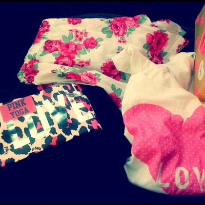 new shit y'all! #me #pink #floral #cute #victoriassecret #foreverxxi (Taken with instagram)