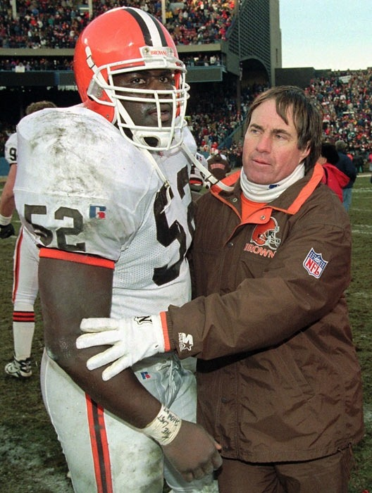 Do you remember when Bill Belichick was a coach for the Cleveland Browns? Wow! It looks strange seeing him in Brown & Orange.