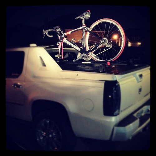 #bike #rack #yakima #cervelo #cycle #truck #caddilac #escalade  (Taken with instagram)