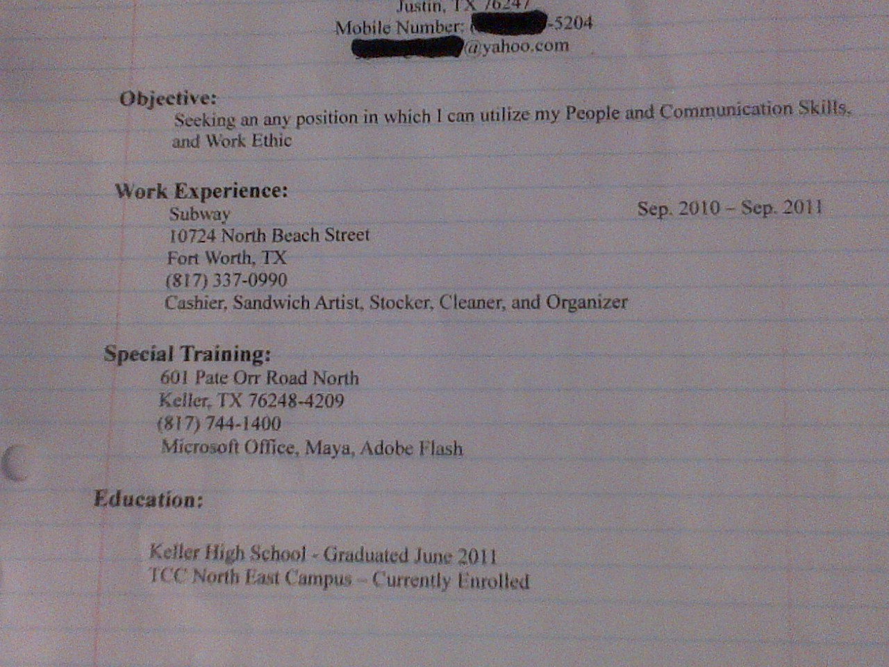 "So this guy dropped off his resume at my work today….Follow ""WTF Digest"" - The most frequently updated WTF Tumblr wire. Enjoy!"