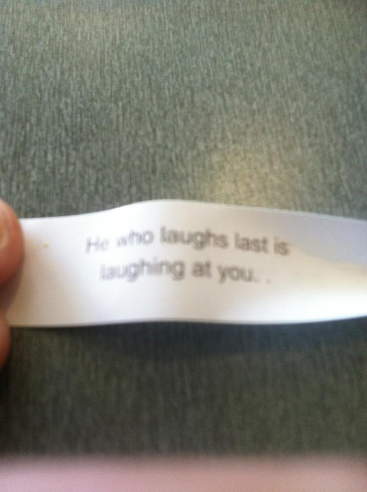 "Go ahead, fortune cookie. Make my day. I dare you.Follow ""WTF Digest"" - The most frequently updated WTF Tumblr wire. Enjoy!"